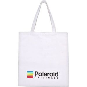 POLAROID ORIGINALS WHITE COTTON REUSABLE TOTE NEW